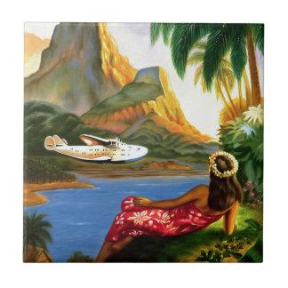 Palmera hawaiana tropical del avión de mar del vin azulejos ceramicos