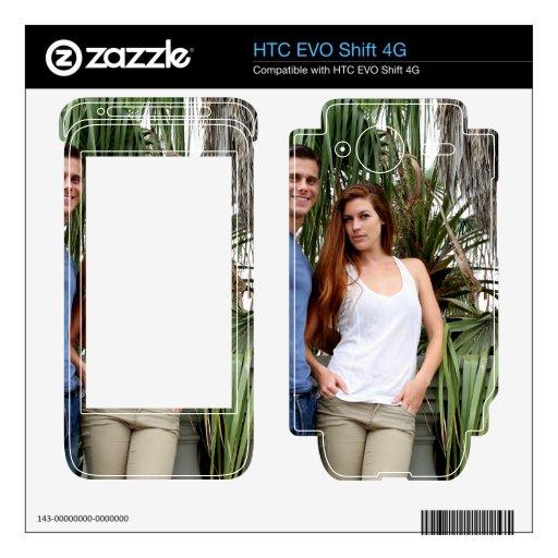 Palmera joven de los pares skins para HTC EVO shift 4G