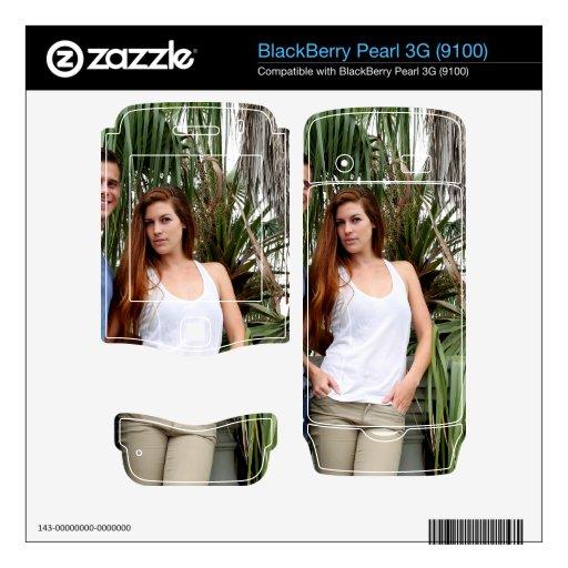 Palmera joven de los pares calcomanía para BlackBerry