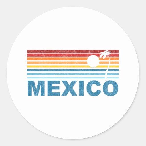 Palmera México Etiqueta Redonda