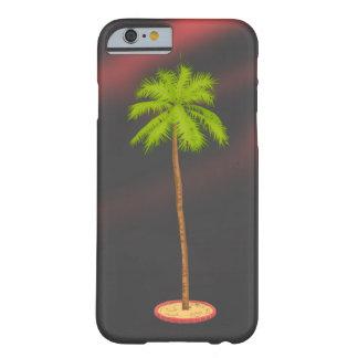 Palmera +Negro de la puesta del sol Funda Para iPhone 6 Barely There