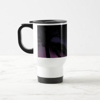 Palmera oscura taza de viaje de acero inoxidable
