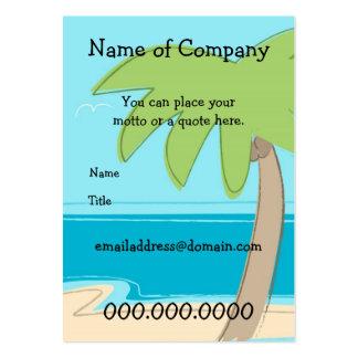 Palmera - plantilla de la tarjeta - modificada tarjetas de visita grandes