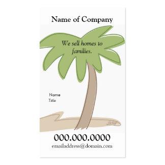 Palmera - plantilla de la tarjeta tarjetas de visita