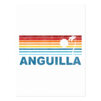 Palmera retra Anguila Tarjeta Postal
