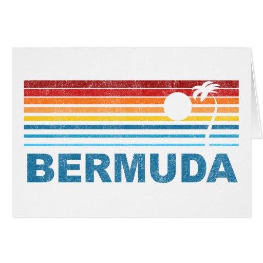 Palmera retra Bermudas Tarjeta De Felicitación