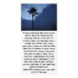 Palmera solitaria del cielo azul tarjeta fotográfica personalizada