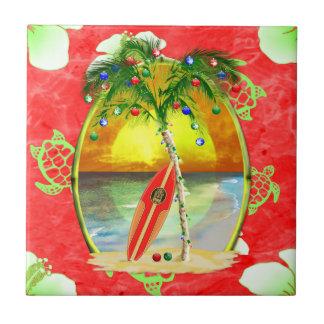 Palmera tropical del navidad tejas  cerámicas