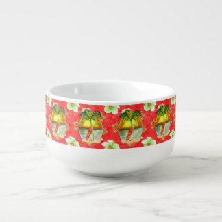 Palmera tropical del navidad bol para sopa