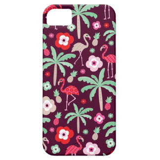 Palmera tropical del paraíso del pájaro del iPhone 5 protector