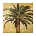 Palmera tropical del vintage azulejos cerámicos