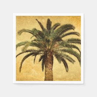 Palmera tropical del vintage de la isla del estilo servilleta desechable