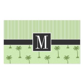 Palmera tropical elegante plantillas de tarjeta de negocio