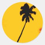 Palmera tropical etiquetas