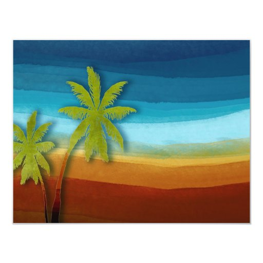 Palmera tropical invitacion personalizada