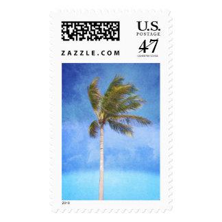 Palmera tropical sello