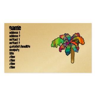 Palmera tropical tarjetas de visita