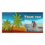 Palmera tropical tarjetas fotográficas