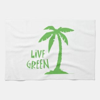 Palmera verde viva toalla