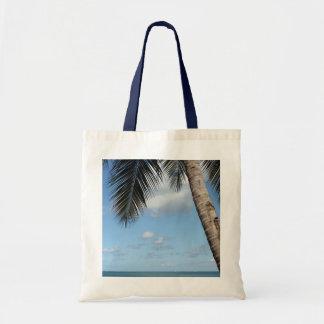 Palmera y mar del Caribe Bolsa Tela Barata