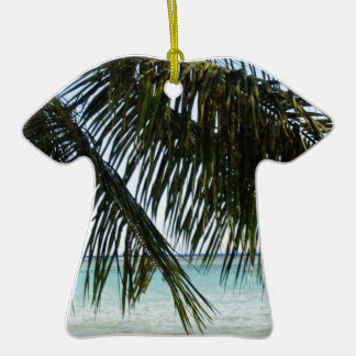 palmera y playa ornamente de reyes