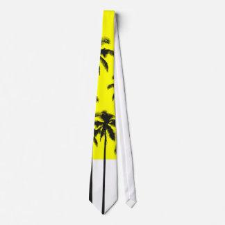 Palmeras amarillas del verano colorido y corbatas personalizadas