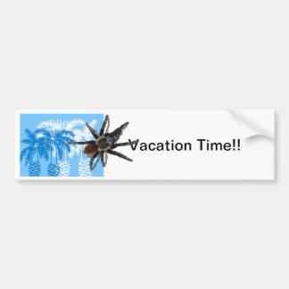 palmeras azules con el tarantula pegatina para auto