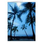 Palmeras azules de Hawaii Felicitación