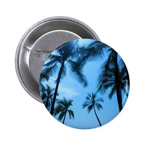 Palmeras azules de Hawaii Pin