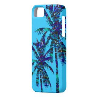 Palmeras azules hermosas iPhone 5 cárcasas