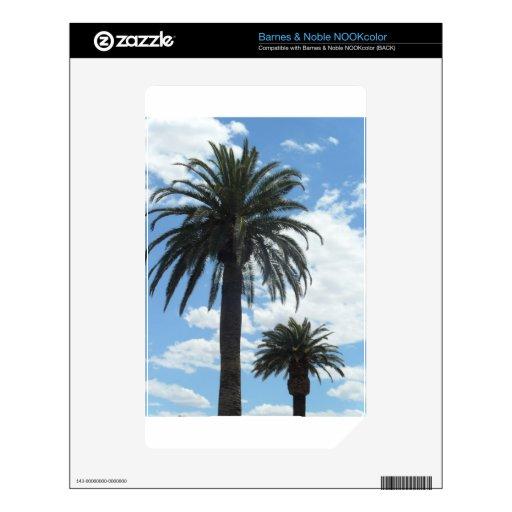 palmeras calcomanía para NOOK color