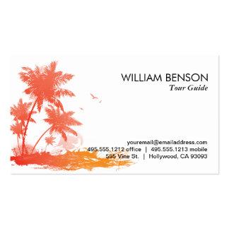 Palmeras (color) tarjetas de visita