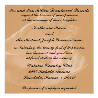 Palmeras con el boda del Seashell Invitación 13,3 Cm X 13,3cm