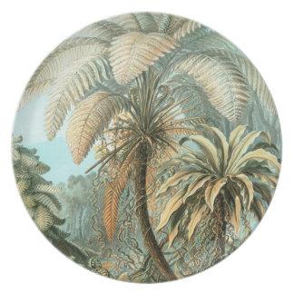 Palmeras de Haeckel Plato De Comida