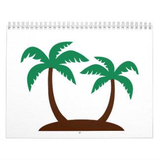 Palmeras de la isla calendario