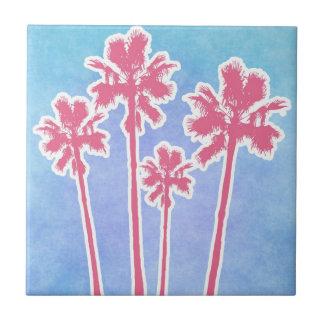 Palmeras de la playa azulejos cerámicos