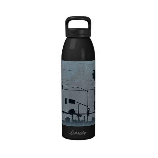 Palmeras de Los Ángeles Botella De Agua Reutilizable