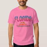Palmeras de neón retras de la FLORIDA Playera