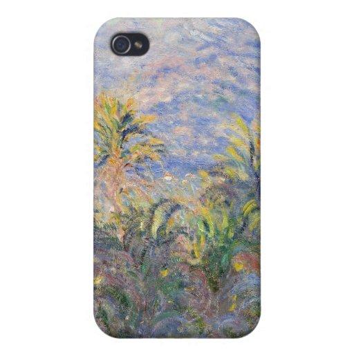 Palmeras en Bordighera - Claude Monet iPhone 4 Carcasa