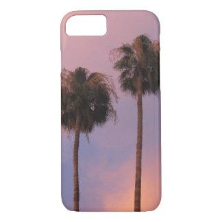 Palmeras en cielo rosado funda iPhone 7
