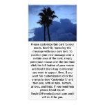 Palmeras en el cielo azul tarjeta personal con foto