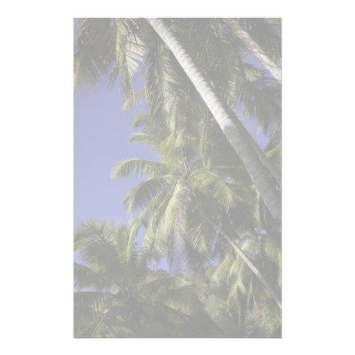 Palmeras en una isla tropical del Caribe Papeleria De Diseño