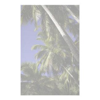 Palmeras en una isla tropical del Caribe Papeleria
