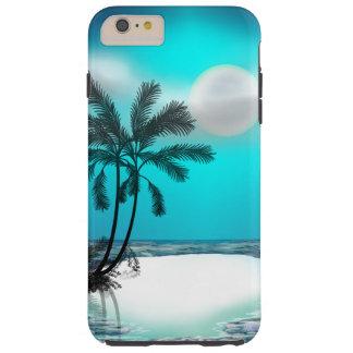 Palmeras en una isla tropical funda para iPhone 6 plus tough