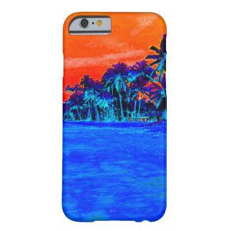 Palmeras exóticas de la playa del arte pop funda barely there iPhone 6
