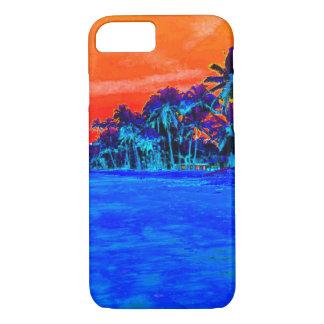 Palmeras exóticas de la playa del arte pop funda iPhone 7