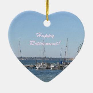 Palmeras felices de los barcos de vela de la playa adorno para reyes