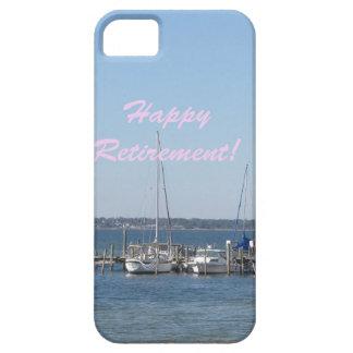 Palmeras felices de los barcos de vela de la playa iPhone 5 fundas