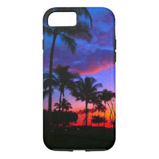 Palmeras hawaianas exóticas de la playa de la funda iPhone 7