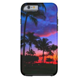 Palmeras hawaianas exóticas de la playa de la funda resistente iPhone 6